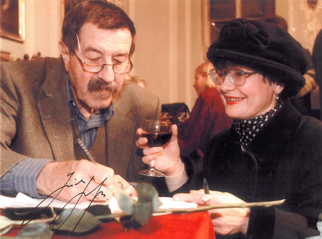 Галина Хотинская mit Günter Grass.