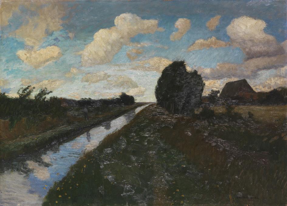 OM Moorkanal mit hohem Himmel 1893